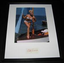 Elke Sommer SEXY Bikini Signed Framed 16x20 Photo Display