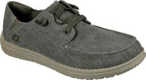 NEW Mens SKECHERS Melson Volgo Olive WOVEN CANVAS Boat Sneaker Shoes AUTHENTIC