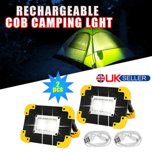 2P USB Rechargeable LED COB Work Light Outdoor Camping Floodlight Emergency Lamp