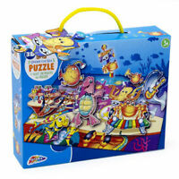 Kids Sea Puzzle - 45 Piece 3D Under The Sea Floor Jigsaw Kids Fun Activity 3+