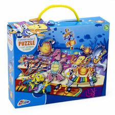 Kids Sea Puzzle - 45 Piece 3D Under The Sea Floor Jigsaw Kids Fun Activity 3+