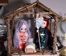 #3067 Large Plastic Precious Moments Nativity - Very unusual