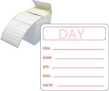 500 PREPARAZIONE CIBI etichette prepped l'autoadesivo IN DISPENSER BOX / etichette alimentari