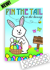 12 Player Easter Game - Pin the Tail on the Easter Bunny - Kids Party
