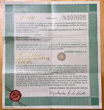 Certificato vintage Rolex Submariner Rosso 1680 5512 5513 Sea Dweller 1665 4107075