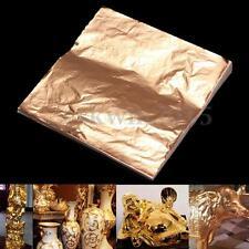 100 Sheets Anti-moisture Copper Leaf Foil Paper For Gilding Art Craft