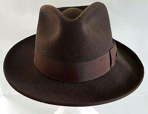 Indiana Jones Official Safari Hat Brown 100% Wool Felt Fedora