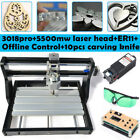 3018 PRO Offline CNC Wood DIY Mill 3 Axis Engraving Router   + 5500mw Laser Head
