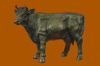 MAJESTIC BRONZE STATUE COW BULL CLASSIC ANIMAL BRONZE SCULPTURE MILO ART DECOR