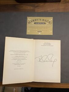 Harry Potter & The Goblet of Fire - Signed by JK Rowling with Golden Ticket