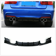 Rear Bumper Diffuser Quad Pipe For BMW F30 320i 325i 328i 335i M Sport Glossy