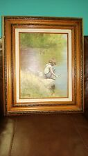 """Vintage Framed Adolf Sehring """"Where the big ones hide"""" Re-Creation by d.Andrea"""