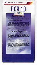 AERO CALIFORNIA SAFETY CARD DOUGLAS DC-9-10 2/2002 BAJA MEXICO