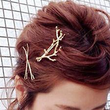 Women Gril Branch Design Hairpin Barrette Clip Hair pin Hair Accessories Gold