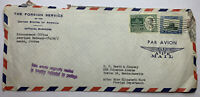 1953 AMMAN JORDAN COVER TO BOSTON, FROM AMERICAN EMBASSY SON CANCEL