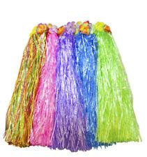 Bulk Lot x 12 Hawaiian Hula Tropical Flower Grass Skirt Dancing Beach Party Cost