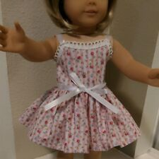 FITS AMERICAN GIRL DOLL 18 inch  DOLL CLOTHES DRESS ONLY PINK CANDY STRIPE  4878
