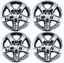 "NEW 2008-2012 Chevy MALIBU 17"" 5-spoke CHROME Hubcap Wheelcover SET of 4"
