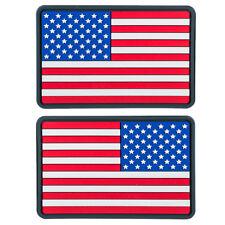2x Helikon Kleine Amerikaanse Vlag PVC Morale Patch Leger USA Echte Kleuren
