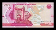 B-D-M Uzbekistan 2000 Sum 2021 Pick New Low serial SC UNC
