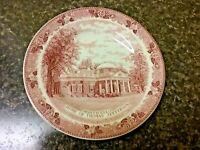 "MONTICELLO VA Thomas Jefferson Plate 7"" Jonroth Staffordshire England Pink"