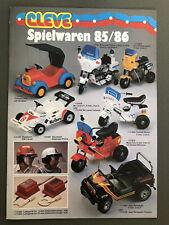 Cleve Spielwaren 85/86 1985 Spielzeug Katalog Pezzi Wackeltiere LKW Mickey RAR