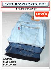 VINTAGE LEVIS ( A GRADE ) DENIM JEANS 515'S,550's BOOTCUT FIT W30 W31 W32 W34