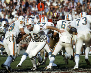 NFL Miami Dolphins QB Bob Griese Larry Csonka Game Action Color 8 X 10 Photo