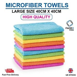 Microfibre Soft Large Cleaning Cloths Car Home Polish Cleaning Dusters Towel