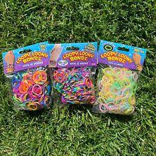 900 Pc Colourful Rainbow Rubber Loom Bands Bracelet Making Kit 36 Hooks