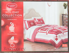 Christmas St Nicholas Square Holiday Nicholas Quilt Full/Queen 90x95in