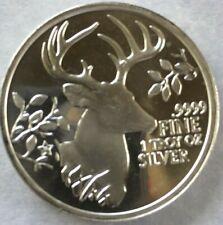 1 each 2015 Texas Deer  Texas Precious Metal - 1 Troy Ounce 0.9999 Silver