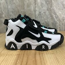 Nike Air Barrage Mid Size 9.5 Mens Black White Cabana Basketball Shoes