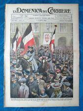 La Domenica del Corriere 7 marzo 1920 Trattato Versailles - Ashburne - G. Verdi