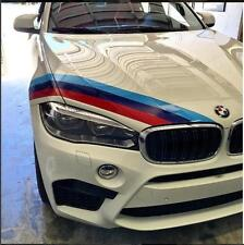 set of M COLORS 3 Stripes Hood Decal fit BMW Motorsport M3 M5 M6 F G series