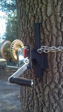 Tree hoist EZ - WINCH MOUNT for EZ- Feeder Hanger hand crank hog deer hunting US