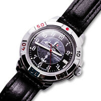 VOSTOK Russian Commander's Black Mechanical Wristwatch SUBMARINE 2414/431831