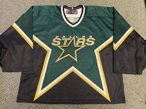 Vintage Dallas Stars Hockey Jersey Sweater Goalie Green Home NHL Shirt
