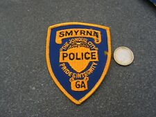 PATCH POLICE ECUSSON COLLECTION  USA   police  smyrna