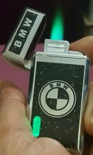 1x BMW windproof metal  cigarette lighter,with green   led light