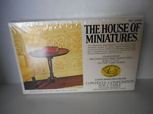 HOUSE OF MINIATURES FURNITURE KITQUEEN ANNE TILT TOP TABLE VINTAGE 1980