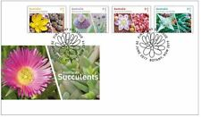 STAMPS featuring succulents - first day cover & succulent booklet series