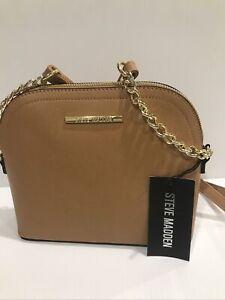 New STEVE MADDEN Women's BMAGGIE CROSSBODY Handbag Purse  SADDLE color DT204410