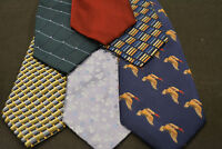 Lot of 5 HENRY JACOBSON Neckties - incredibly cheap! Grab it! E3
