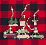 Christmas Wooden Car Deer Pendant Decorations Tree Home Party Ornaments Gift Y1