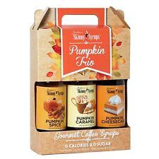 Skinny Syrups Trio Pack Pumpkin Spice Caramel & Cheesecake Sugar Free Syrup Set