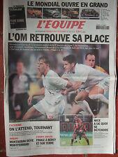 L'Equipe du 28/9/2002 - L'OM - Mondial automobile - Tournant - Nice - Montauban
