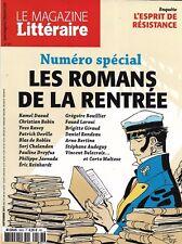 MAGAZINE LITTERAIRE n°583 septembre 2017 SPECIAL RENTREE LITTERAIRE/ RESISTANCE
