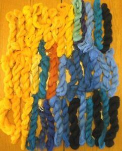 40 Pcs Unbranded Virgin Wool Yarn Needlepoint Embroidery Single Ply Crewel Lot#7