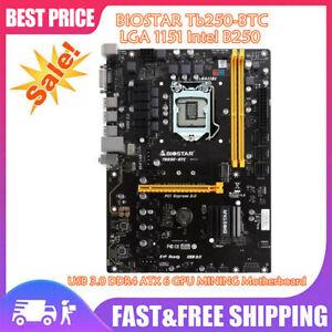 TB250-BTC LGA 1151 Intel B250 USB 3.0 DDR4 ATX 6 GPU MINING Motherboard